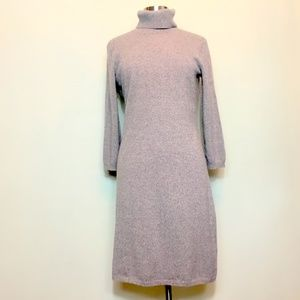 Pure Amici L Cashmere Turtleneck Dress Natural Tan